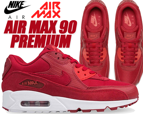 NIKE AIR MAX 90 PREMIUM gym redgym red white
