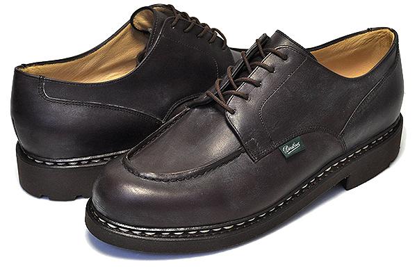 【パラブーツ シャンボード】PARABOOT CHAMBORD/TEX Made in France MARRON-LIS CAFE 710707【マロン メンズ 靴 Uチップモカ レザー シューズ カジュアル ブーツ】