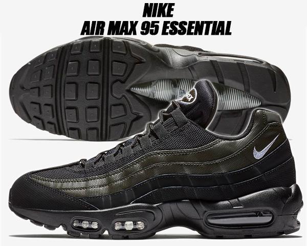 NIKE AIR MAX 95 ESSENTIAL 749766 034 BLACKWHITESEQUOIA