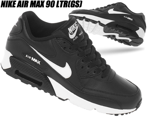 NIKE AIR MAX 90 LTR (GS) whitephoto blue black 833,376 107 Kie Ney AMAX 90 girls sneakers Lady's AM90 women pink
