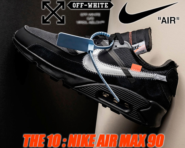 new product 1c911 dddf4 It is NIKE AIR MAX 90 OFF-WHITE black/black-cone-white AA7293 001 the ten  Nike X off-white Air Max 90 the ten sneaker THE 10