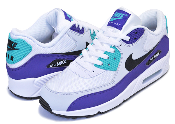 NIKE AIR MAX 90 ESSENTIAL whiteblack hyper jade aj1285 103 Kie Ney AMAX 90 essential sneakers men AIRMAX Air Max Grape grape