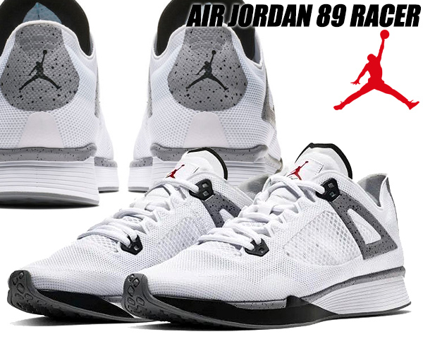 great prices brand new save off NIKE JORDAN 89 RACER white/black-cement grey Nike Jordan 89 racer sneakers  Air Jordan AJ4 running shoes