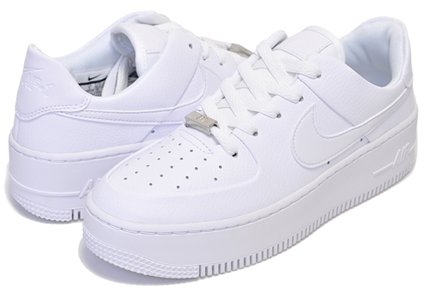 pick up 17d42 ed894 NIKE WMNS AF1 SAGE LOW white/white-white Nike women air force 1 Seiji AIR  FORCE ONE Lady's sneakers white