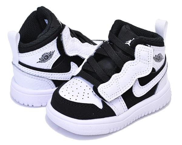 competitive price 8b520 a305d NIKE JORDAN 1 MID ALT (TD) white/black-white Nike Jordan 1 kids sneakers  AJ1 AIR JORDAN 8cm - 16cm child shoes toddler