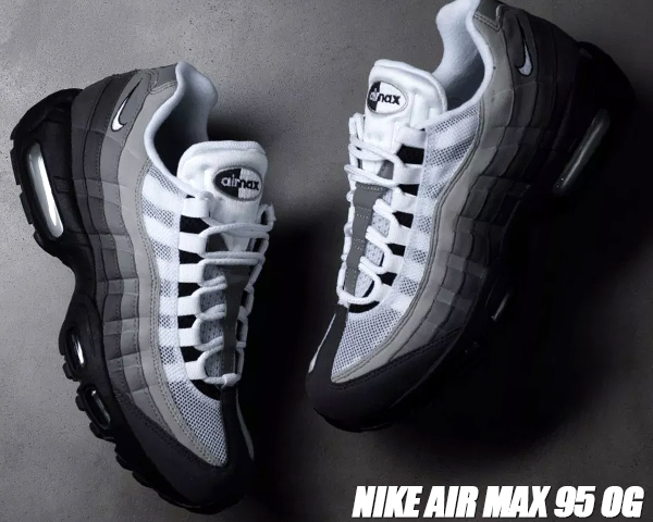 sports shoes great quality 100% genuine NIKE AIR MAX 95 OG black/white-granite-dust Kie Ney AMAX 95 OG sneakers Air  Max 95 gradation at2865-003