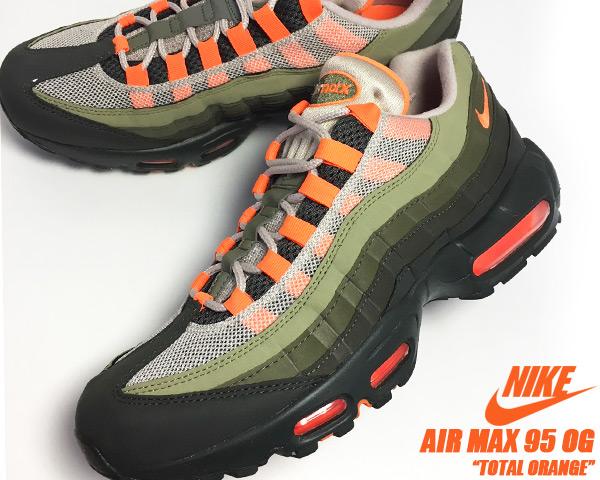 NIKE AIR MAX 95 OG stringtotal orange neutral olive Kie Ney AMAX 95 OG sneakers Air Max 95 total orange gradation