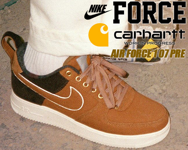 =CodE= NIKE AIR FORCE 1 X CARHARTT WIP 燈心絨籃球鞋(咖啡黑)AV4113-200