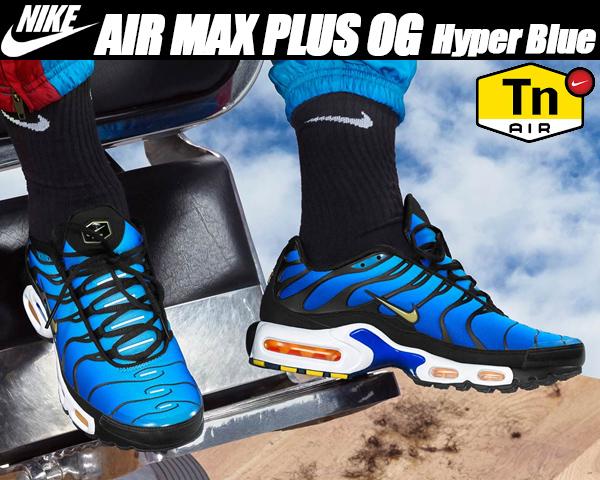 NIKE AIR MAX PLUS OG black/chamois-sky
