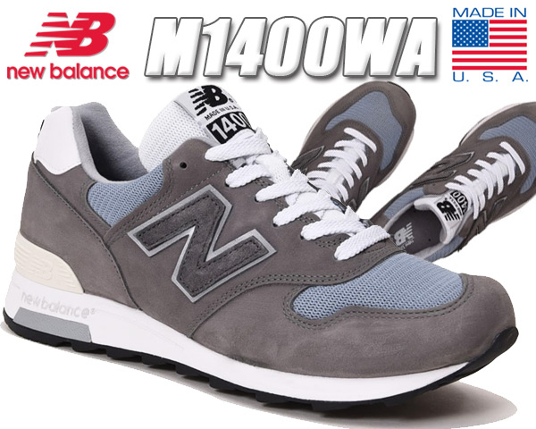 NEW BALANCE M1400WA MADE IN U.S.A. ニューバランス M1400 スニーカー メンズ グレー NB 1400 USA MARBLEHEAD width D