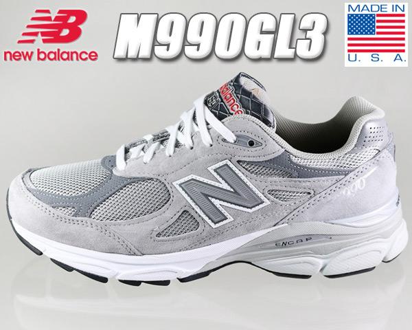 NEW BALANCE M990GL3 MADE IN U.S.A. 【ニューバランス 990 V3 スニーカー メンズ ランニングシューズ USA グレー DAD SHOES ダッドシューズ NB】