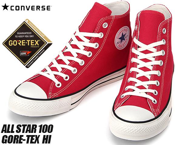 CONVERSE ALL STAR 100 GORE-TEX HI RED 31300431 コンバース オールスター 100 ゴアテックス レッド スニーカー GORE TEX