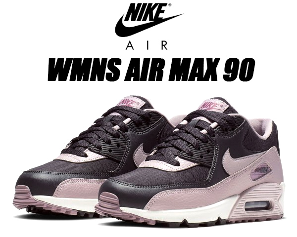 NIKE WMNS AIR MAX 90 oil greyplum chalk plum chalk 325,213 059 Nike women Air Max 90 Lady's sneakers pink gray