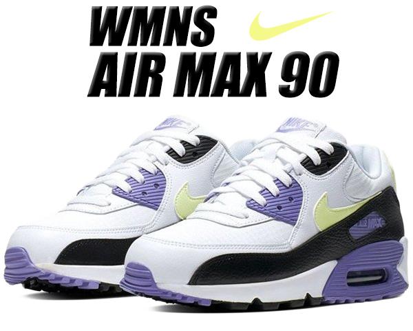 NIKE WMNS AIR MAX 90 white/barely volt-black 325213-142 ナイキ ウィメンズ エアマックス 90 レディース スニーカー ガールズ ボーイズ