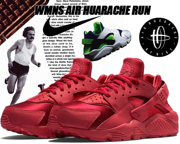 NIKE WMNS AIR HUARCHE RUN gym red/gym red-sail-black スニーカー 634835-601 ナイキ エア ハラチ ウィメンズモデル