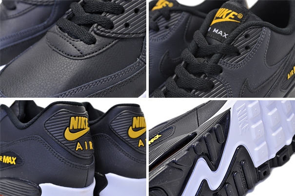 NIKE AIR MAX 90 LTR (GS) blackamarillo anthracite 833,412 029 Kie Ney AMAX 90 LTR GS sneakers Air Max 90 black yellow