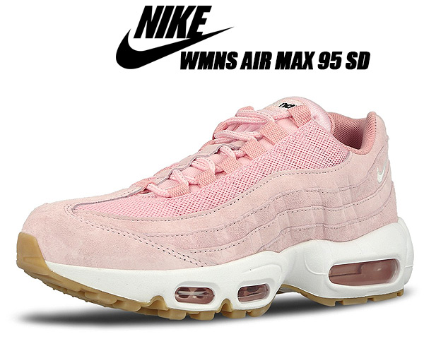 NIKE WMNS AIR MAX 95 SD prism pinkwhite sheen black 919,924 600 Nike women Air Max 95 SD sneakers pink lady