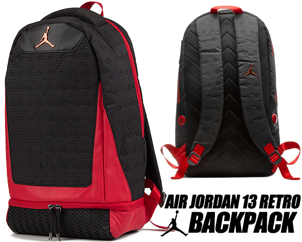 NIKE JORDAN RETRO 13 BACKPACK black/gym red 9a1898-kr5 ナイキ ジョーダン 13 バックパック リュック AJXIII カバン バッグ PCスリーブ