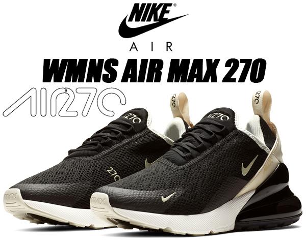 NIKE WMNS AIR MAX 270 black/light bone-light bone ah6789-010 ナイキ ウィメンズ エアマックス 270 スニーカー レディース ブラック
