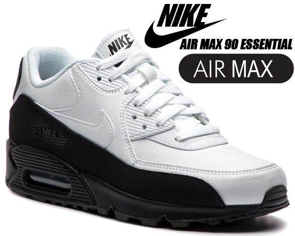NIKE AIR MAX 90 ESSENTIAL blkwht aj1285 006 Kie Ney AMAX 90 men's sneakers white black essential