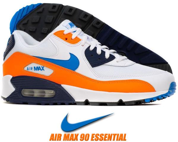 nike air max 90 noir orange