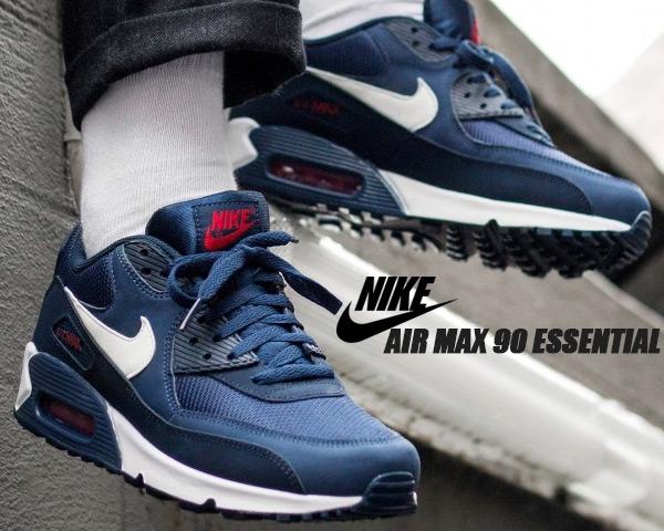 NIKE AIR MAX 90 ESSENTIAL midnight navywhite aj1285 403 Kie Ney AMAX 90 sneakers navy essential tricolor