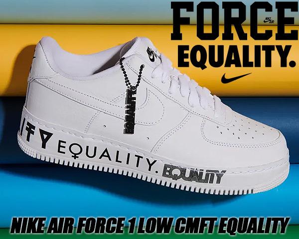 big sale 6f6e7 584cf NIKE AIR FORCE 1 LOW CMFT EQUALITY white/white-black aq2118-100 Nike air  force 1 CMFT BHM men sneakers AF1 イクオリティ BLACK HISTORY MONTH