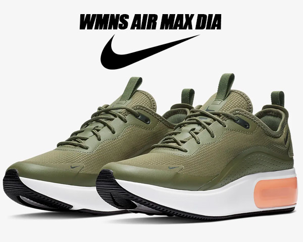 NIKE WMNS AIR MAX DIA medium olive/black aq4312-200 ナイキ ウィメンズ エアマックス ディア スニーカー エア マックス レディース オリーブ