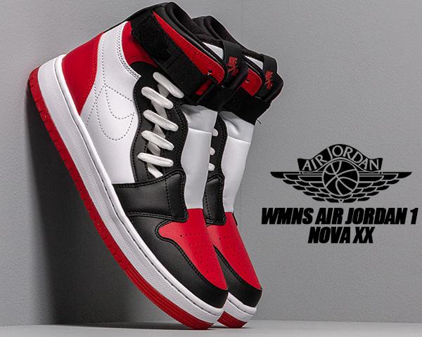 NIKE WMNS AIR JORDAN 1 NOVA XX white/gym red-black av4052-106 CHICAGO ナイキ ウィメンズ エアジョーダン 1 ノバ XX シカゴ スニーカー AJ1 レディース メンズ