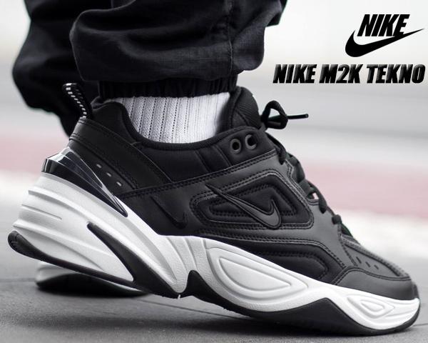 NIKE M2K TEKNO black/black-off wht-obsidian ナイキ M2K テクノ スニーカー メンズ dad shoes チャンキー スニーカー 黒 ブラック DAD