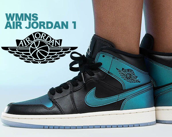 coupon codes exclusive shoes running shoes NIKE WMNS AIR JORDAN 1 MID blk/pale ivory-multi-color bq6472-009 Nike women  Air Jordan 1 mid sneakers AJ1