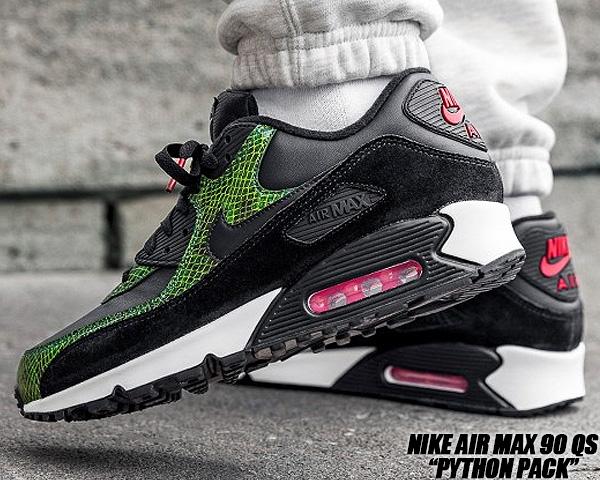 NIKE AIR MAX 90 QS PYTHON black/black-cyber-fir cd0916-001 ナイキ エアマックス 90 パイソン スニーカー 蛇柄 スネーク グリーン