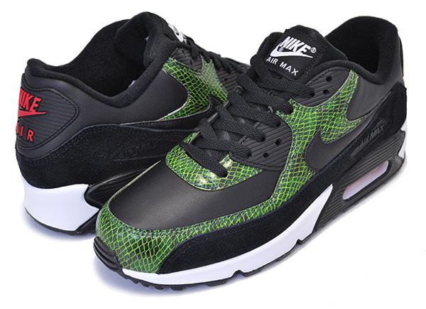 NIKE AIR MAX 90 QS PYTHON blackblack cyber fir cd0916 001 Kie Ney AMAX 90 python sneakers snake pattern snake green