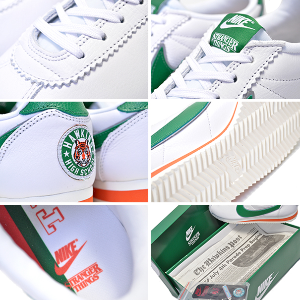 sports shoes the best new products NIKE CLASSIC CORTEZ QS STRANGER THINGS white/pine green-cosmic cray  cj6106-100 Nike X ストレンジャーシングスクラシックコルテッツスニーカー HAWKINS HIGH Hawkins Senior  High ...
