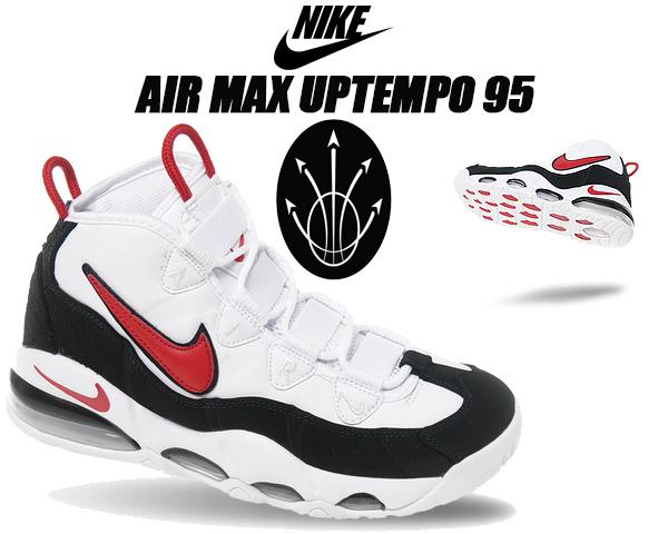 NIKE AIR MAX UPTEMPO 95 white/university red-black ck0892-101 ナイキ エア マックス アップテンポ 95 スニーカー CHICAGO BULLS バッシュ