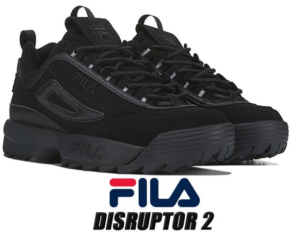 FILA DISRUPTOR 2 BLACK FS1HTA3180X BLK フィラ ディスラプター2 レディース ウィメンズ オールブラック ダッドシューズ DAD SHOES 黒