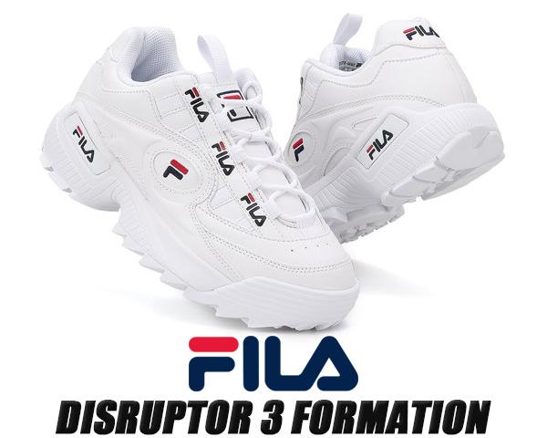 FILA DISRUPTOR 3 FORMATION WHITE FS1HTB1831X WWT フィラ ディスラプター 3 フォーメーション スニーカー 厚底 ホワイト