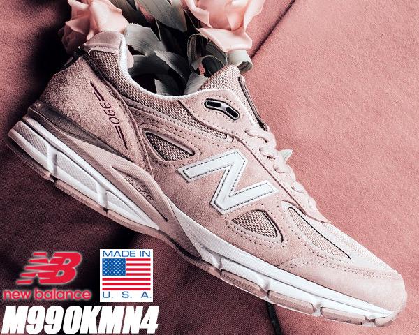 NEW BALANCE M990KMN4 MADE IN U.S.A. Pink Ribbon ニューバランス 990 V4 スニーカー ピンクリボン NB 990 KMN4 メンズ ランニング