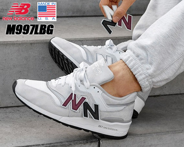 NEW BALANCE M997LBG MADE IN U.S.A. ニューバランス 997 NB Dワイズ White Silver