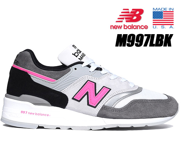 NEW BALANCE M997LBK MADE IN U.S.A.ニューバランス 997 スニーカー NB Dワイズ グレー ピンク Grey Pink