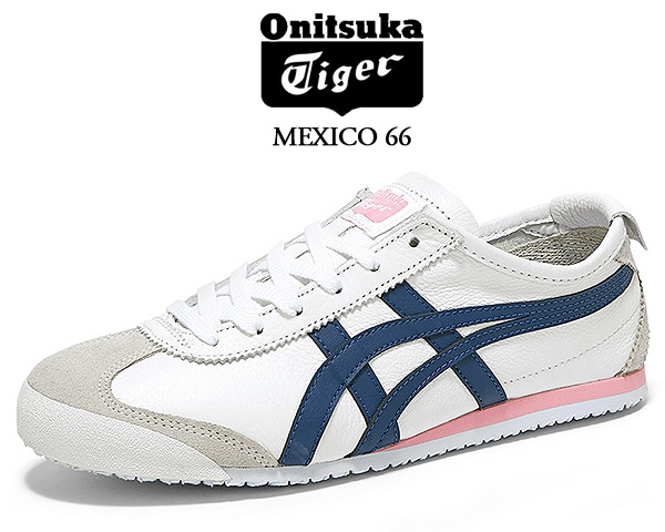 Onitsuka Tiger MEXICO 66 WHITE/INDEPENDENCE BLUE 1182a078-104 オニツカタイガー メキシコ 66 レディース スニーカー ウィメンズ ホワイト ピンク