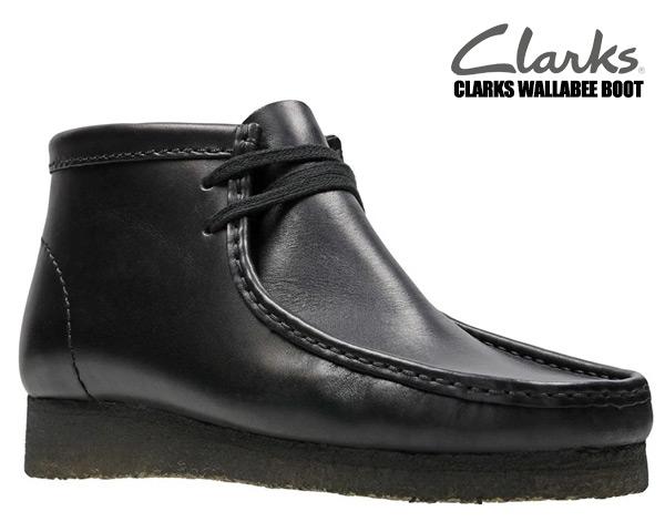 CLARKS WALLABEE BOOT BLACK LEATHER 26103666 クラークス ワラビー レザー ブーツ ブラック ワラビー ブーツ