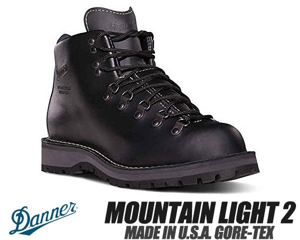 DANNER MOUNTAIN LIGHT 2 MADE IN U.S.A. GORE-TEX EEワイズ BLACK 30860 ダナー マウンテンライト 2 メンズ 防水 ブーツ ゴアテックス ブラック