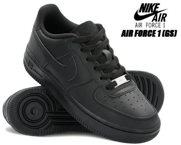 NIKE AIR FORCE 1 (GS) black/black-black 314192-009 ナイキ エアフォース 1 レディース ブラック スニーカー AF1 LOW ウィメンズ ガールズ