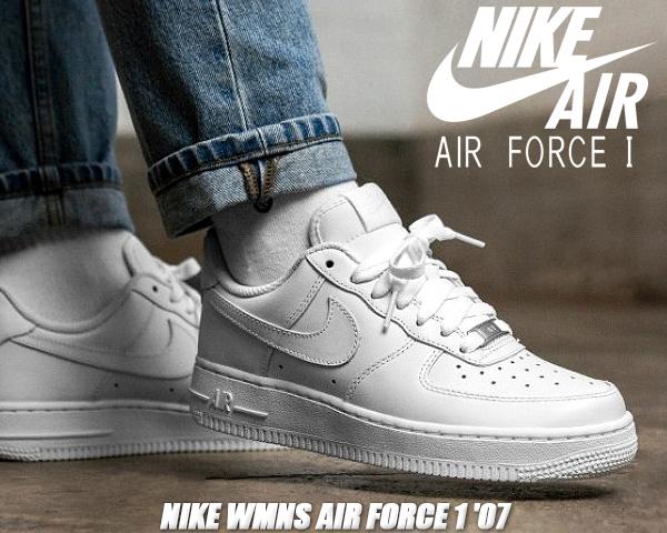 NIKE WMNS AIR FORCE 1 '07 white/white 315115-112 ナイキ ウィメンズ エアフォース 1 ロー 07 スニーカー AF1 ローカット ガールズ レディース