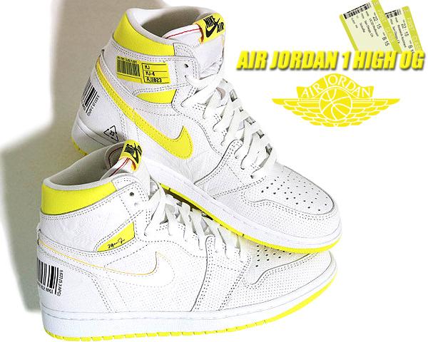 NIKE AIR JORDAN 1 HI OG FIRST CLASS white/black-dynamic yellow 555088-170 ナイキ エアジョーダン 1 ハイ OG FIRST CLASS FLIGHT スニーカー AJ1 ファーストクラス
