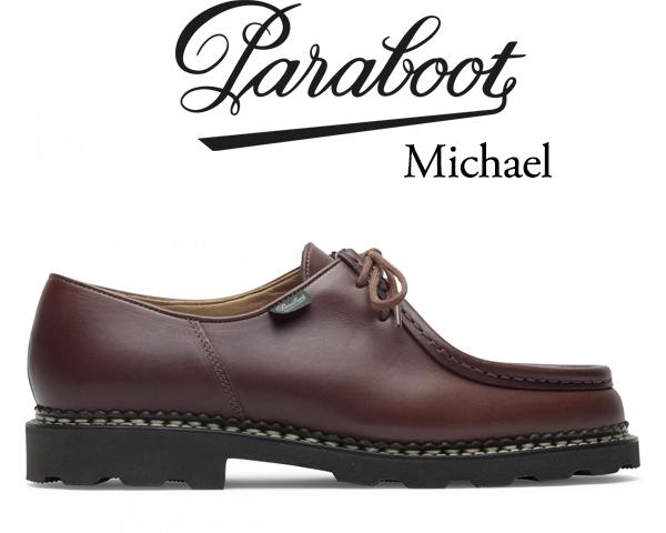 PARABOOT MICHAEL MARCHE II Made in France MARRON パラブーツ ミカエル マロン チロリアンシューズ レザー シューズ メンズ カジュアル Uモカ 715603