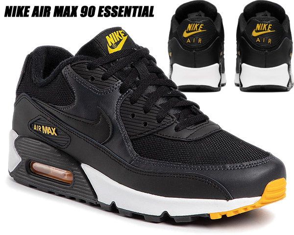 air max 90 essential black and yellow