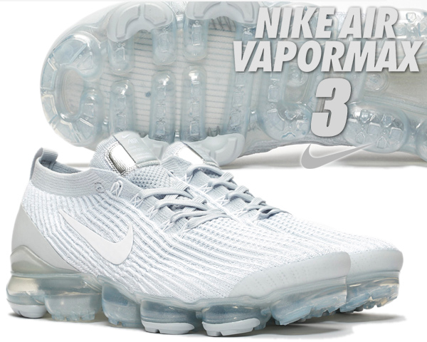 NIKE AIR VAPORMAX FLYKNIT 3 white/wht-pure platinum aj6900-102 ナイキ エア ヴェイパーマックス フライニット 3 メンズ スニーカー エアマックス ホワイト ピュアプラチナム