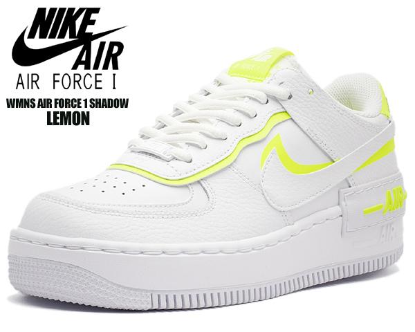 NIKE WMNS AF1 SHADOW white/white-lemon venom ci0919-104 ナイキ ウィメンズ エアフォース 1 シャドウ スニーカー レディース AIR FORCE 1 ガールズ シャドー ホワイト イエロー